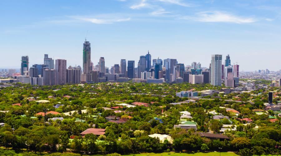 Vista sulla città di Manila