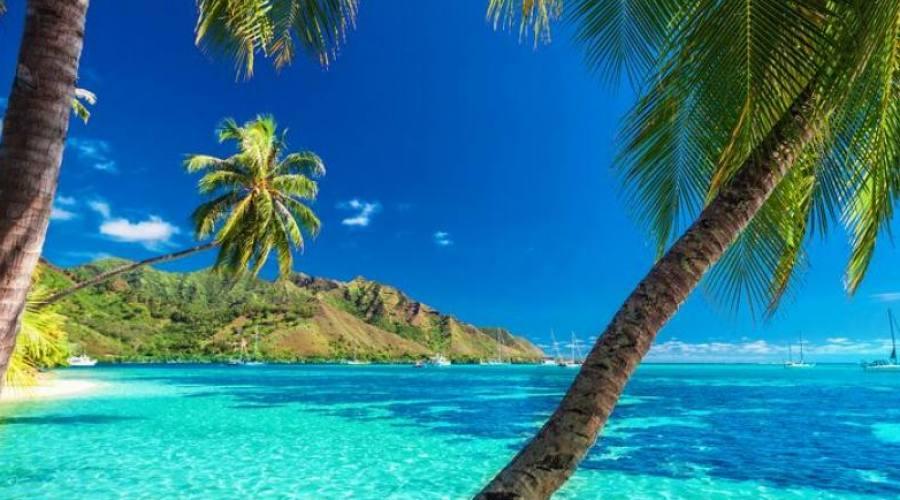 Spiaggia polinesiana