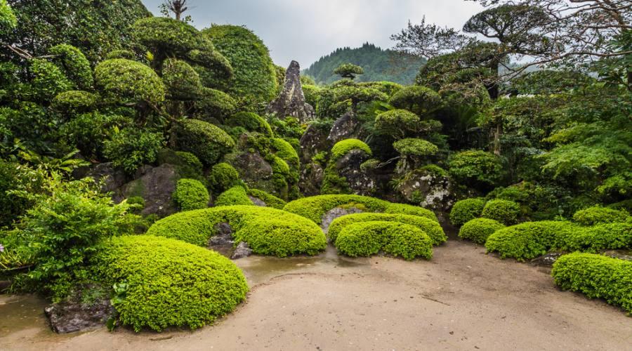 Giardino giapponese nel distretto di Chiran, a Kagoshima