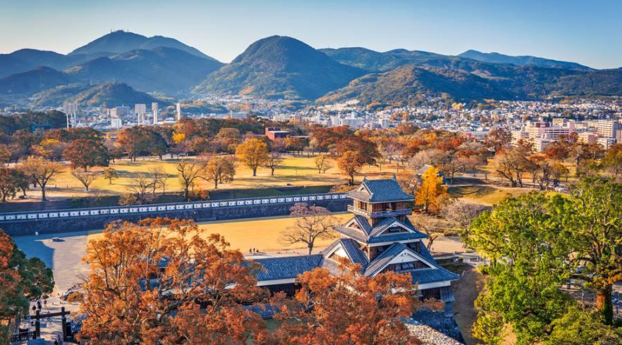 Il castello di Kumamoto