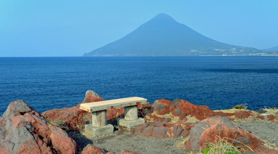 Il Capo di Nagasakibana e la vista sul monte Kaimondake
