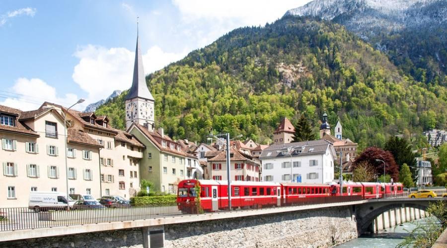 Trenino Rosso del Bernina a Coira