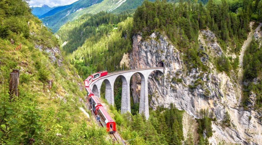 Viadotto Landwasser - Trenino Rosso del Bernina