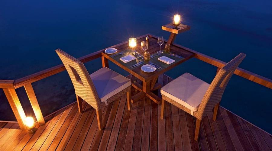 Atmosfere romantiche al ristorante Manta