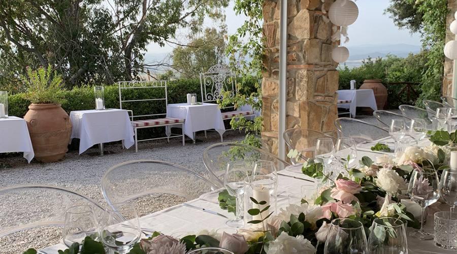 Allestimento giardino per cerimonie