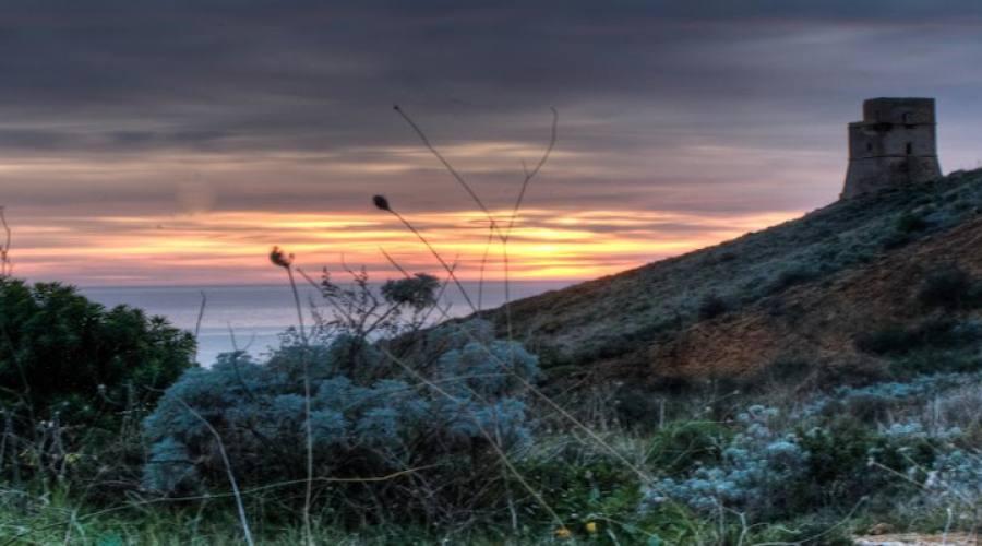 Tramonto sul mare di Selinute