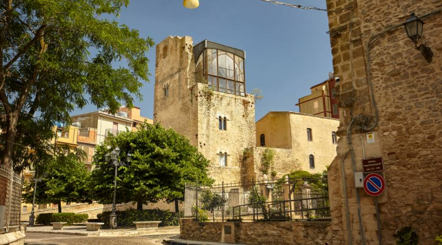 Particolare dell'architettura del castello della città di Butera