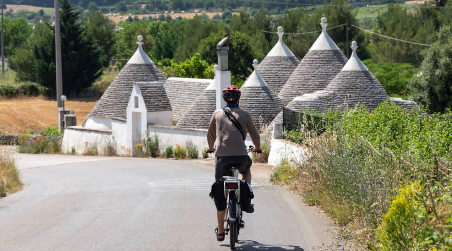 In bici ad Alberobello