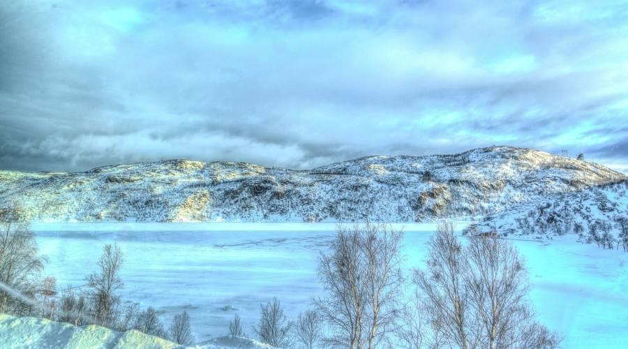Paesaggio invernale norvegese