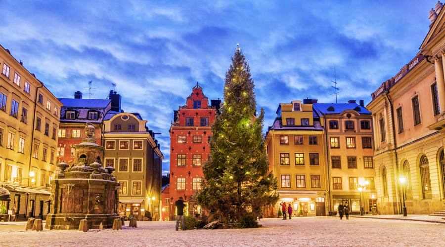 Stoccolma Piazza Stortorget a Natale