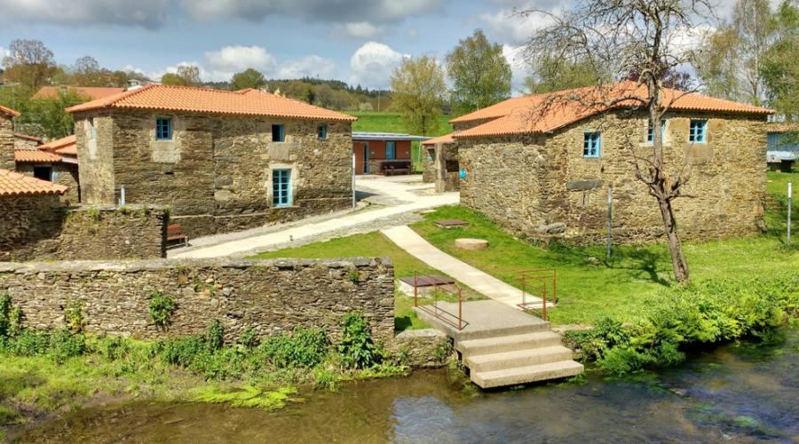 Villaggio di Rivadiso, tra Melide e Arzua