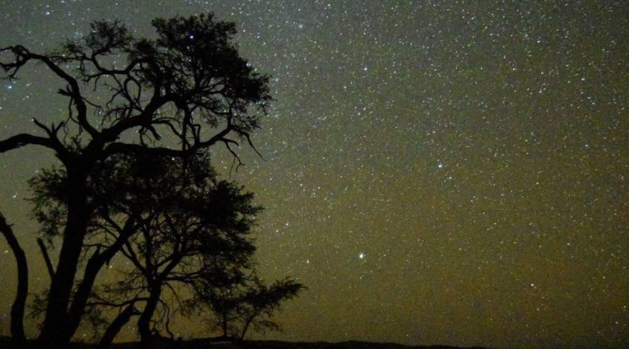 cielo stellato nelle tiras mountains