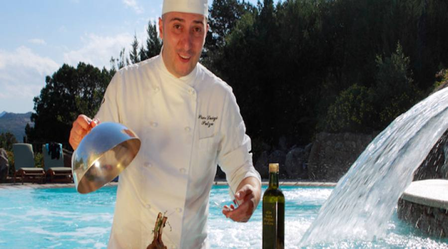 Chef in piscina