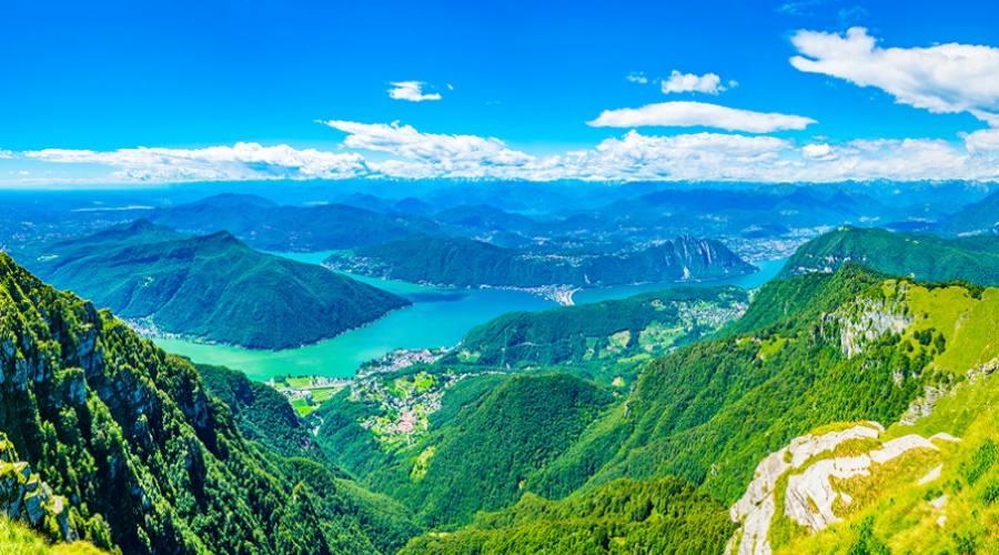 Lago di Lugano visto dal Monte Generoso