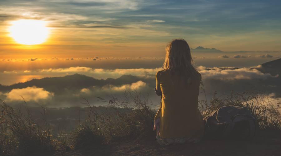 vista panoramica monte batur