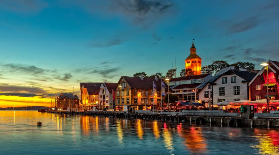Stavanger di notte