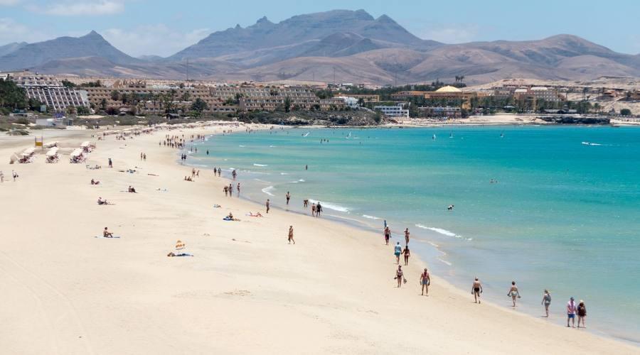 Le spiagge a ridosso degli hotel - Fuertventura