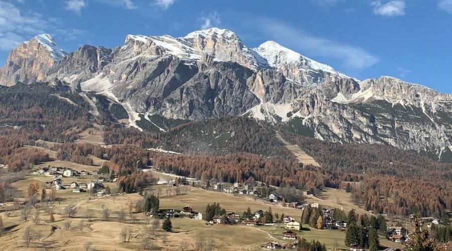 veduta di Cortina dall'hotel