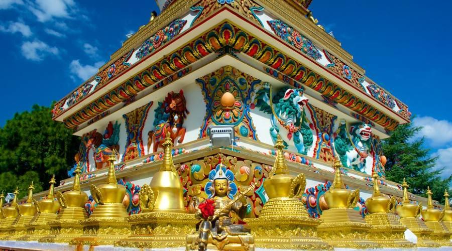 Dettaglio di stupa