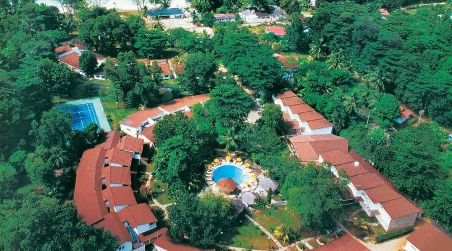 L'hotel visto dall'alto