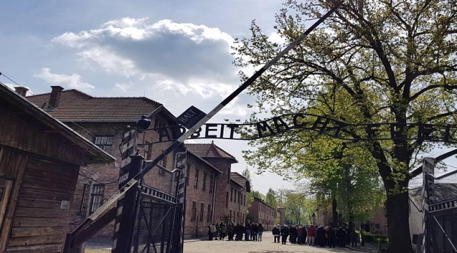 Cancello ingresso ad Auschwitz