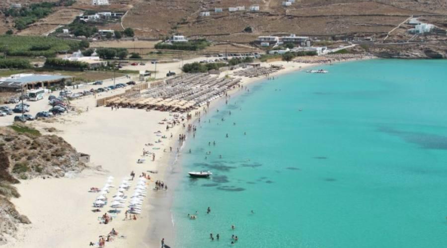 Spiaggia tipo a Mykonos
