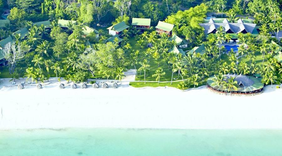 Il resort e la spiaggia
