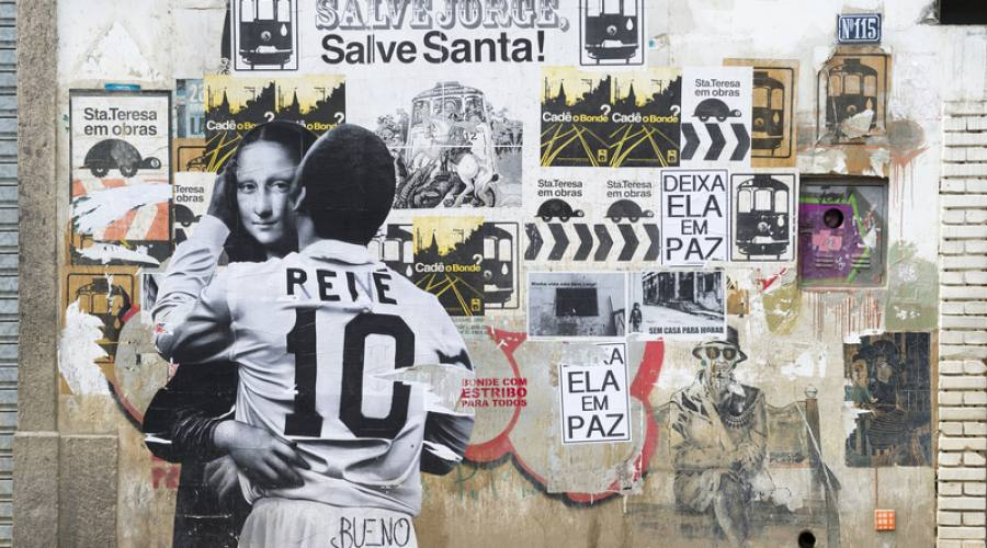 Offerta Capodanno Carioca 2017/2018: Rio street art in Santa Teresa dove è ritratto Pelè e Monna Lisa