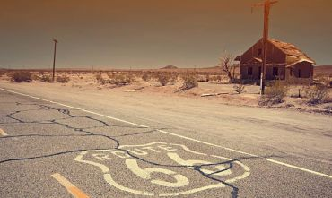 Historic Route66 in auto