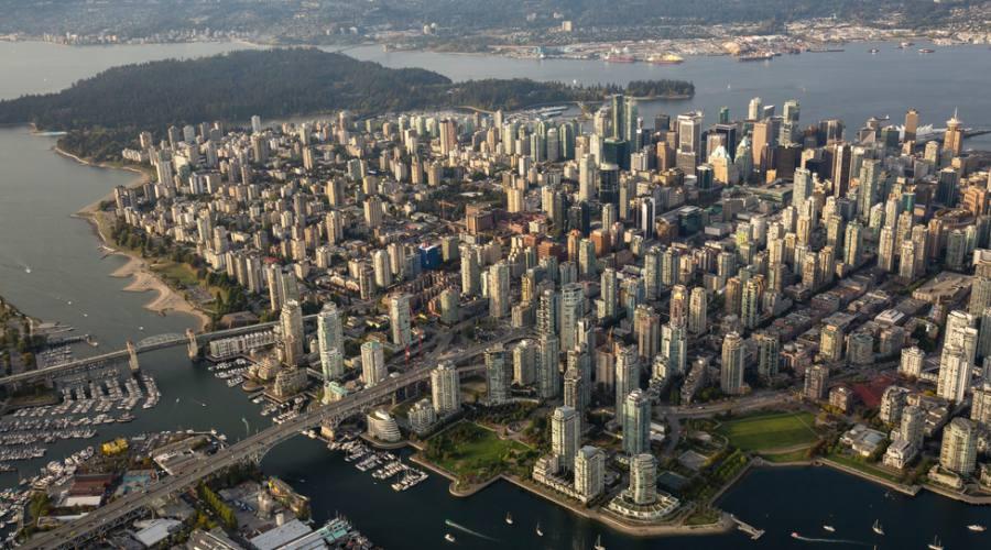 Vancouver, veduta aerea