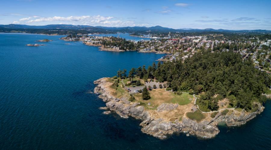 Vancouver Island, veduta aerea