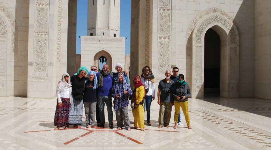 In tour alla Moschea