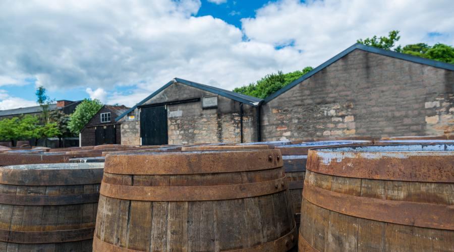 Barili di whisky