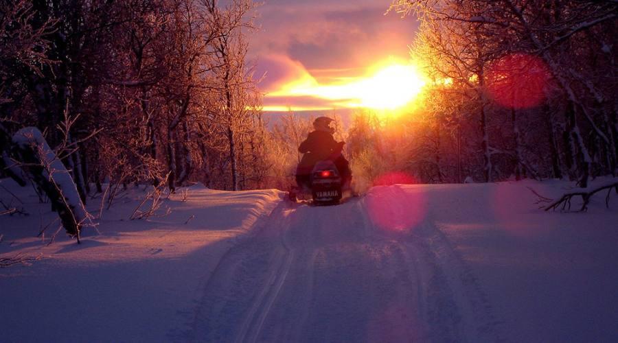 avventura in motoslitta