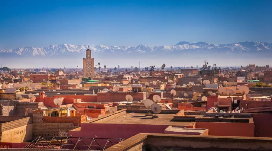 Marrakech - Medina vista Atlas