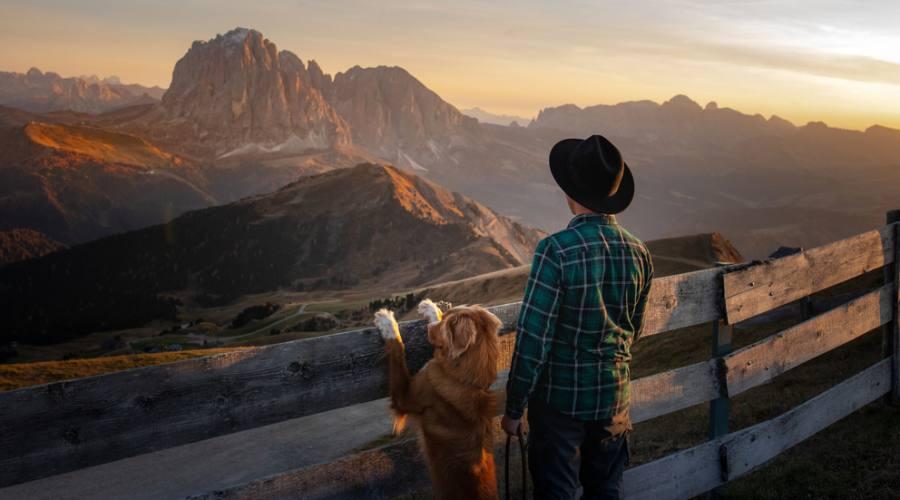 Un bel panorama delle Dolomiti
