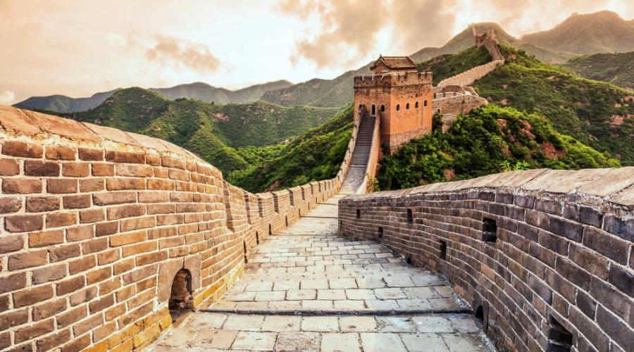 Grande Muraglia tramonto
