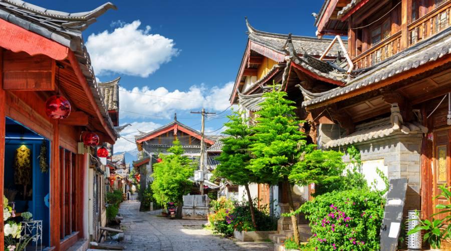 Via tipica in villaggio cinese