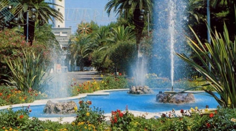 Una fontana della località