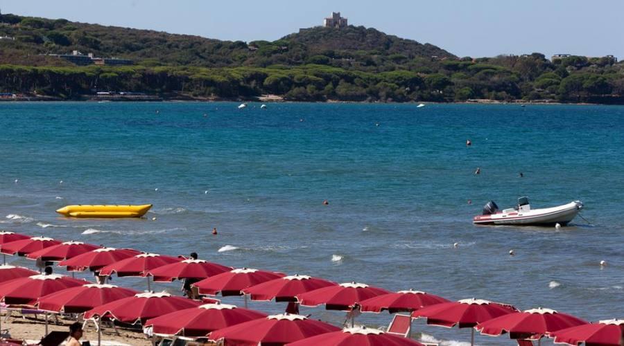 La spiaggia convenzionata...