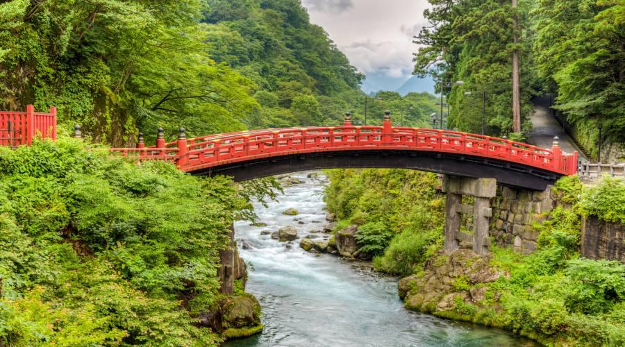 Giappone Tipico Ponte nel  Parco Naturalistico