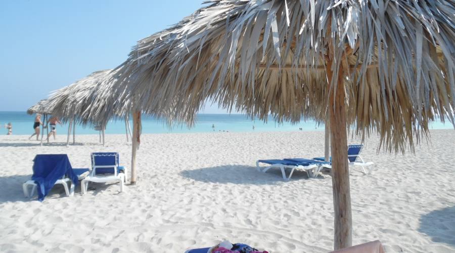 La sabbia bianca di Varadero, cuba