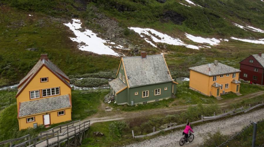 Tipiche case nella campagna norvegese