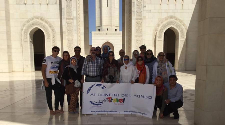 Gruppo Evolution Travel in visita alla Moschea
