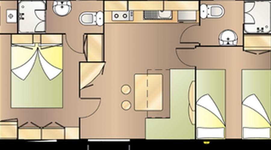 Pianta della casa mobile comfort