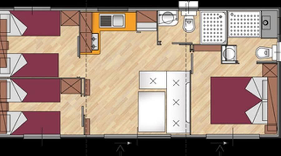 Pianta della casa mobile premium