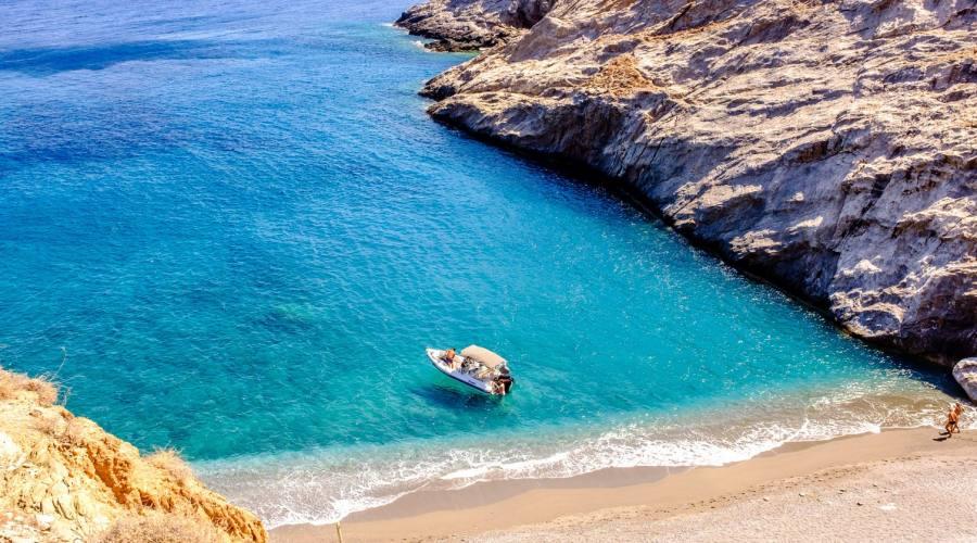 Una spiaggia di Folegandros
