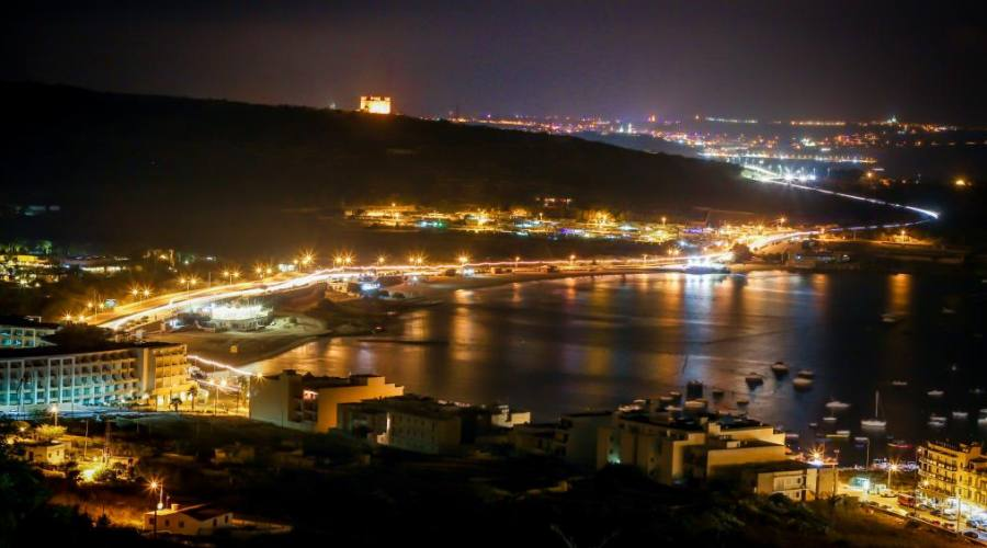 Malta: Mellieha Bay by Night