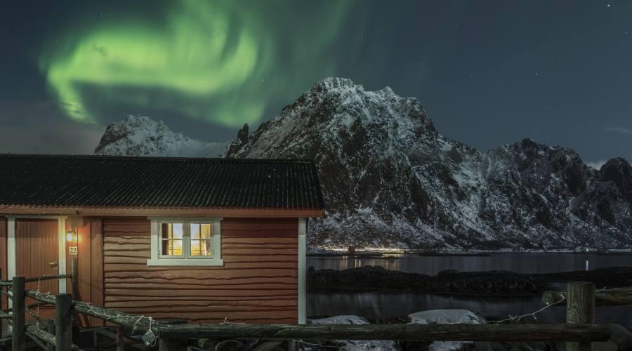 Aurora Boreale sul Rorbu alle Lofoten