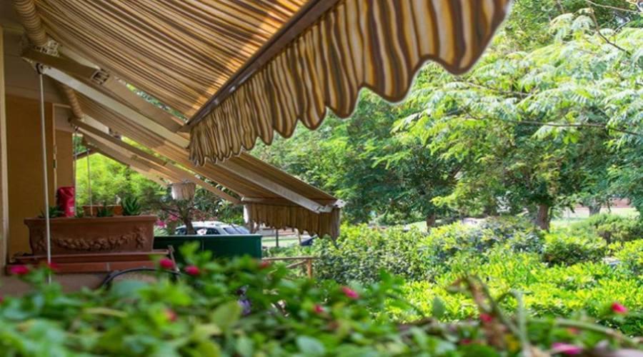 Veranda vista giardino